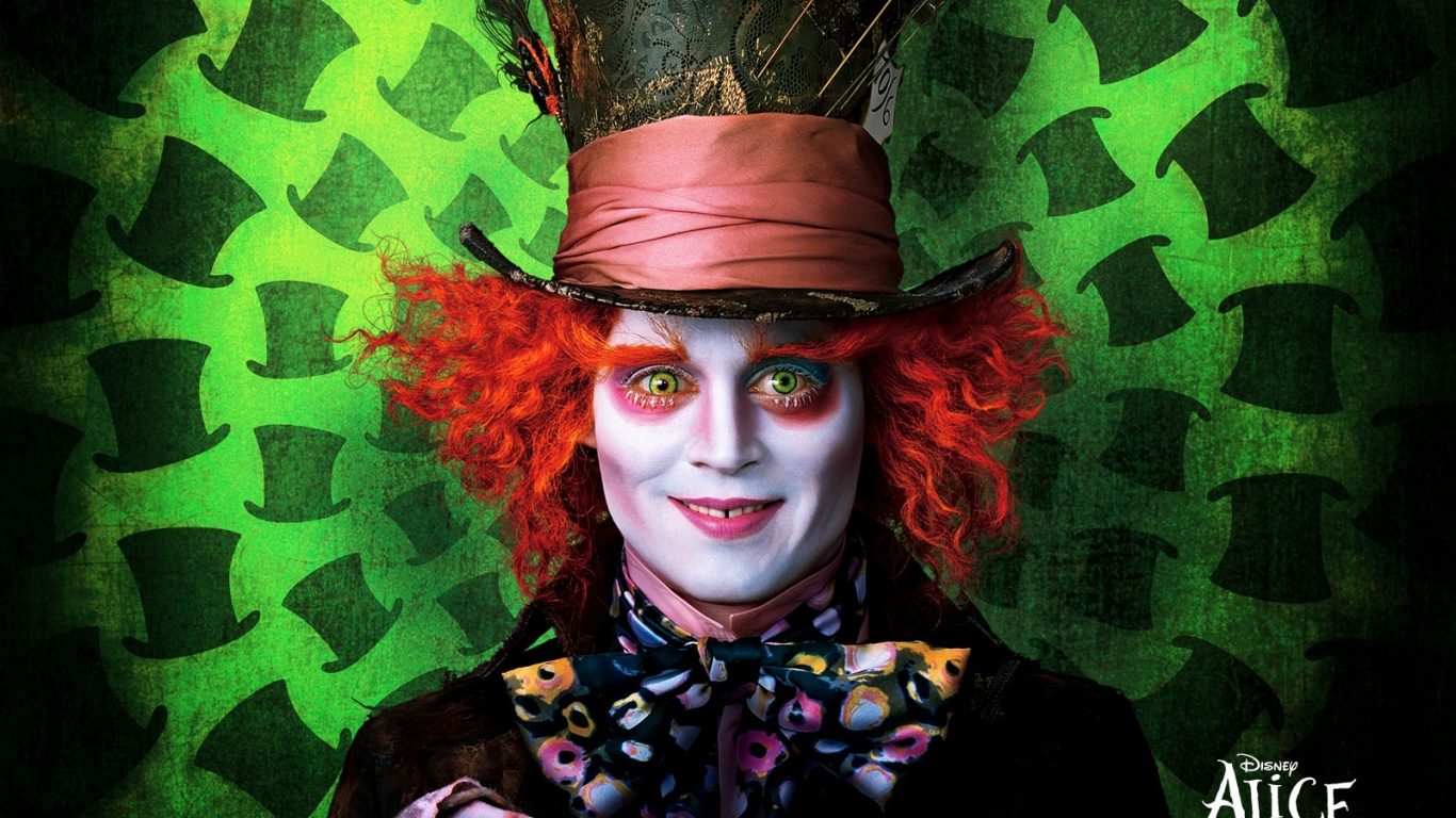 1366x768 the madhatter desktop pc and mac wallpaper