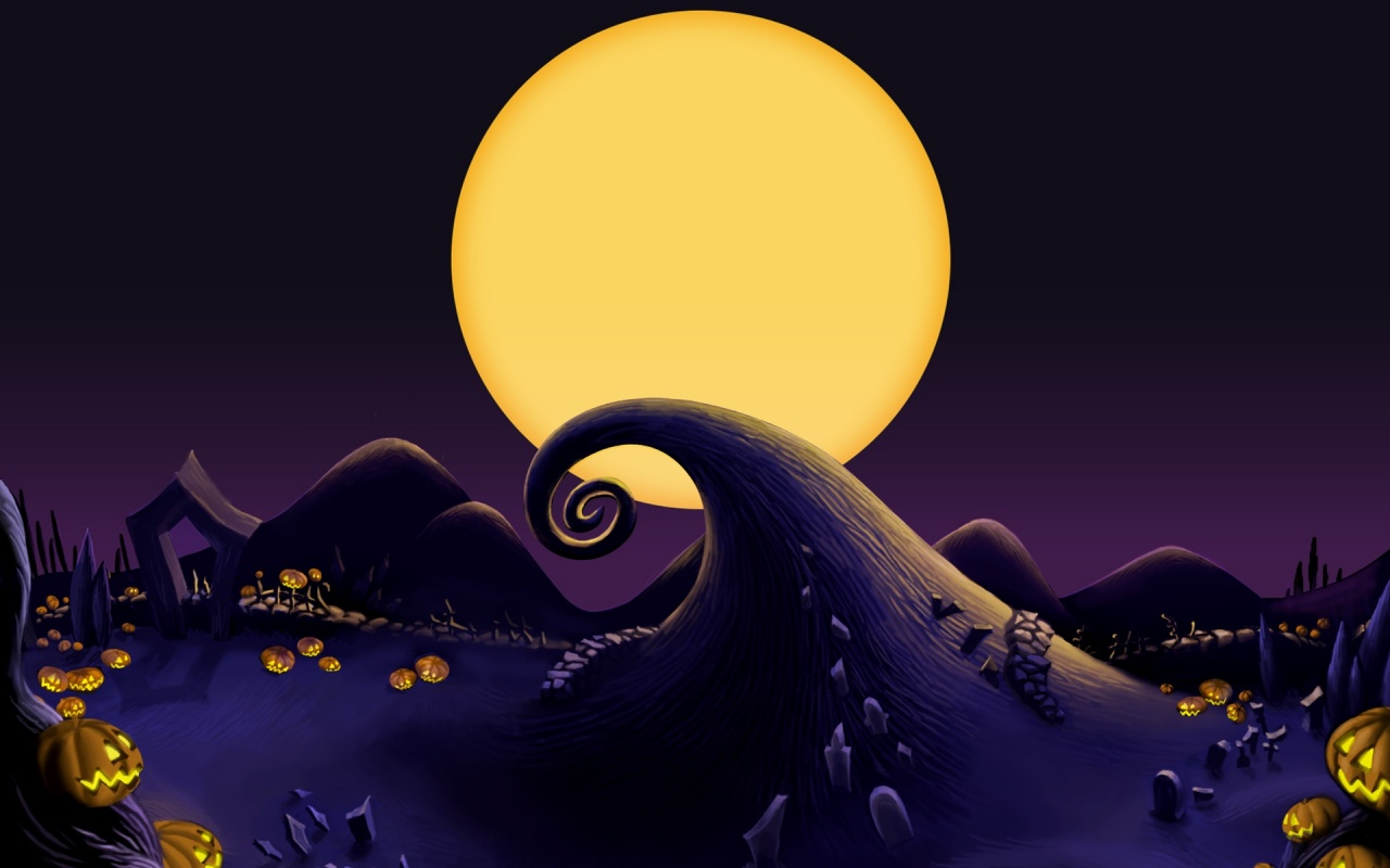 1280x800 The Nightmare Before Christmas Landscape desktop PC and Mac ...