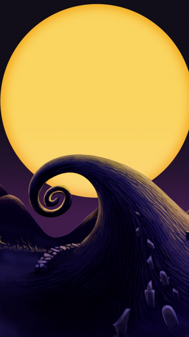 640x1136 The Nightmare Before Christmas Landscape Iphone 5 wallpaper