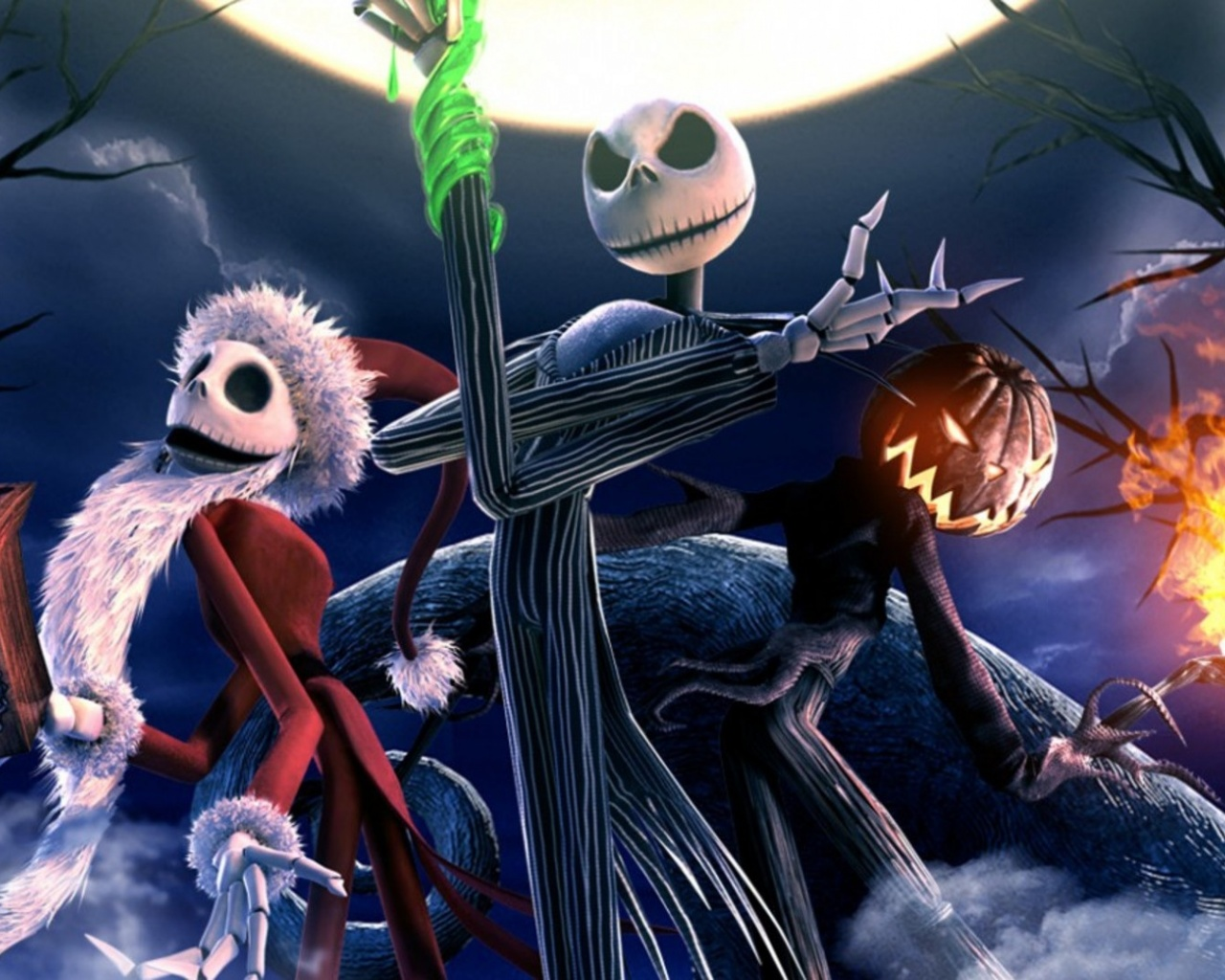 1280x1024 The Nightmare Before Christmas Skeletons desktop PC and ...