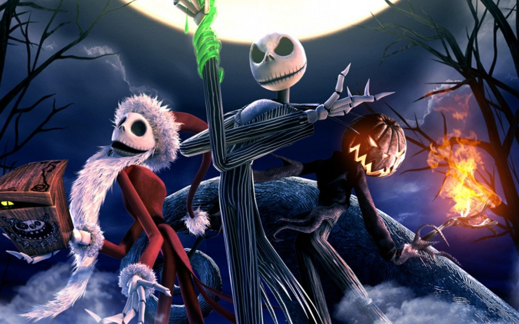 1680x1050 The Nightmare Before Christmas Skeletons desktop PC and ...
