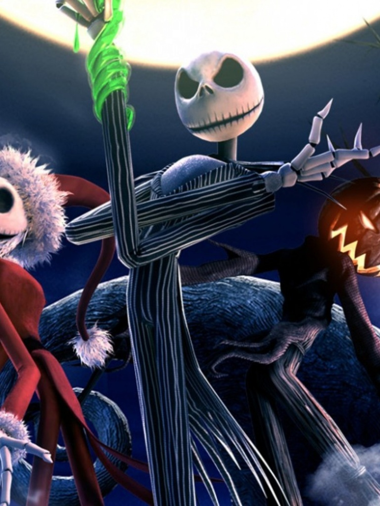 768x1024 The Nightmare Before Christmas Skeletons desktop PC and Mac ...