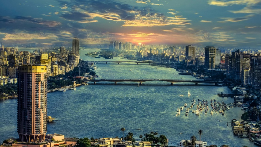 825x315 The Nile In Cairo Facebook Cover Photo