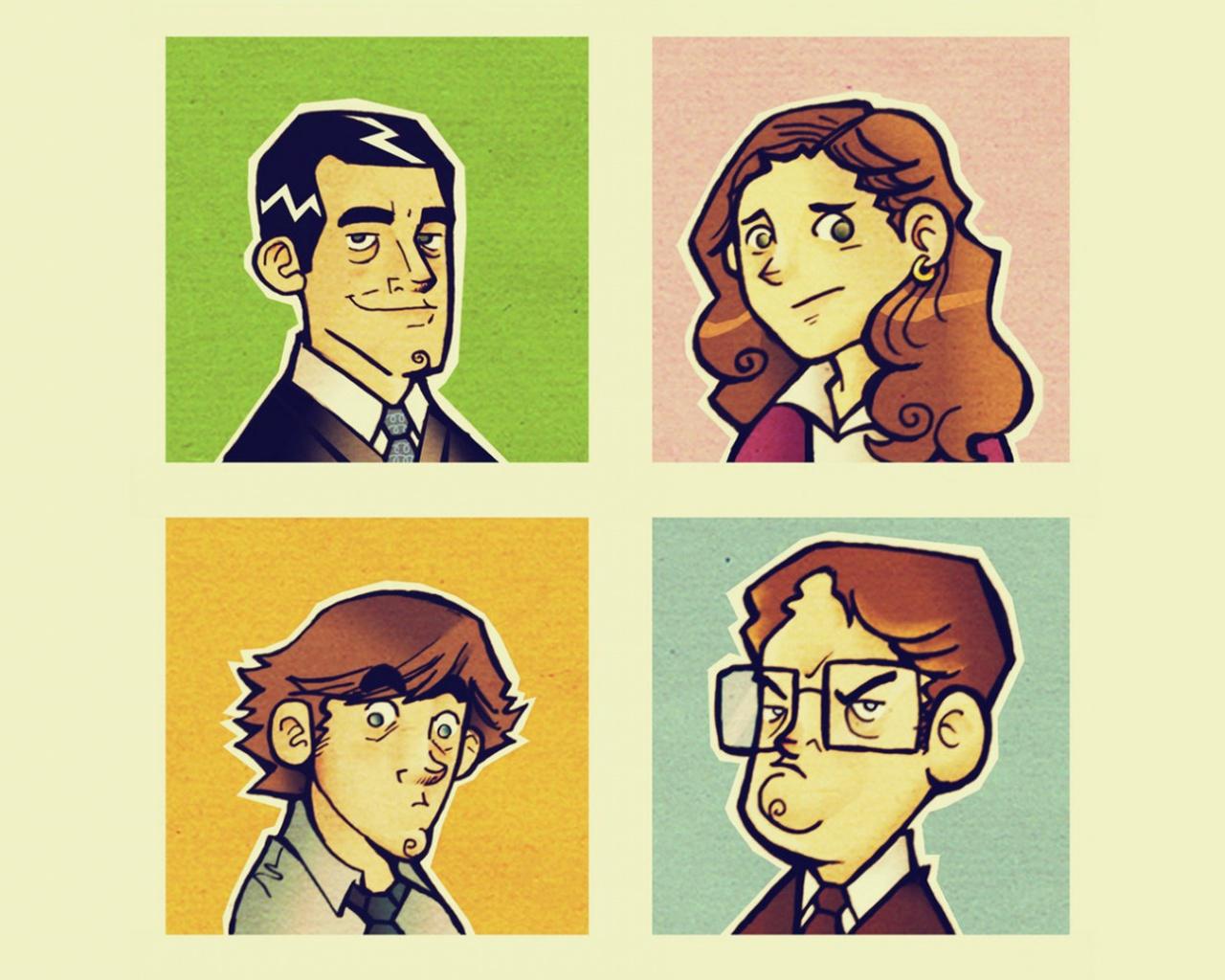 1280x1024 The Office Illustrations Desktop PC And Mac Wallpaper