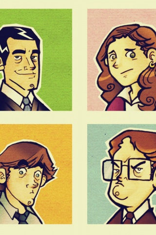 320x480 The Office Illustrations Iphone 3g Wallpaper