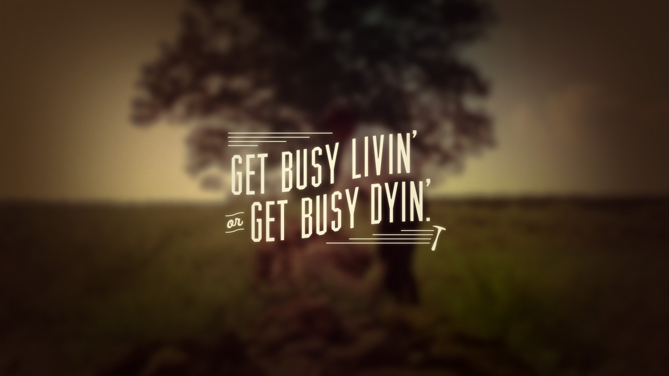 1366x768 The Shawshank Redemption Quote Desktop Pc And Mac Wallpaper
