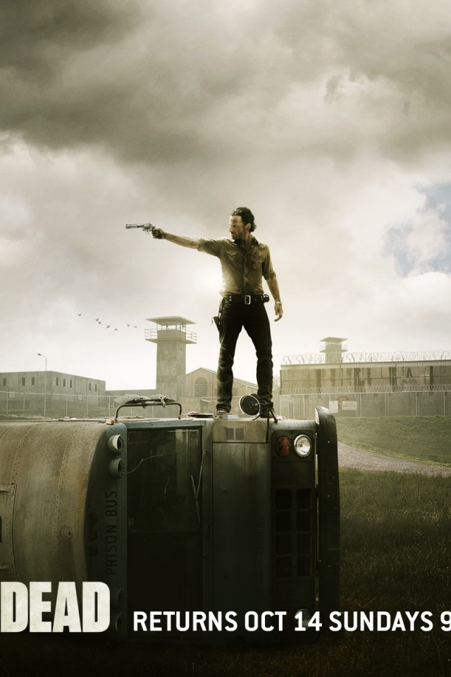 640x960 the walking dead season 2 poster iphone 4 wallpaper voltagebd Gallery