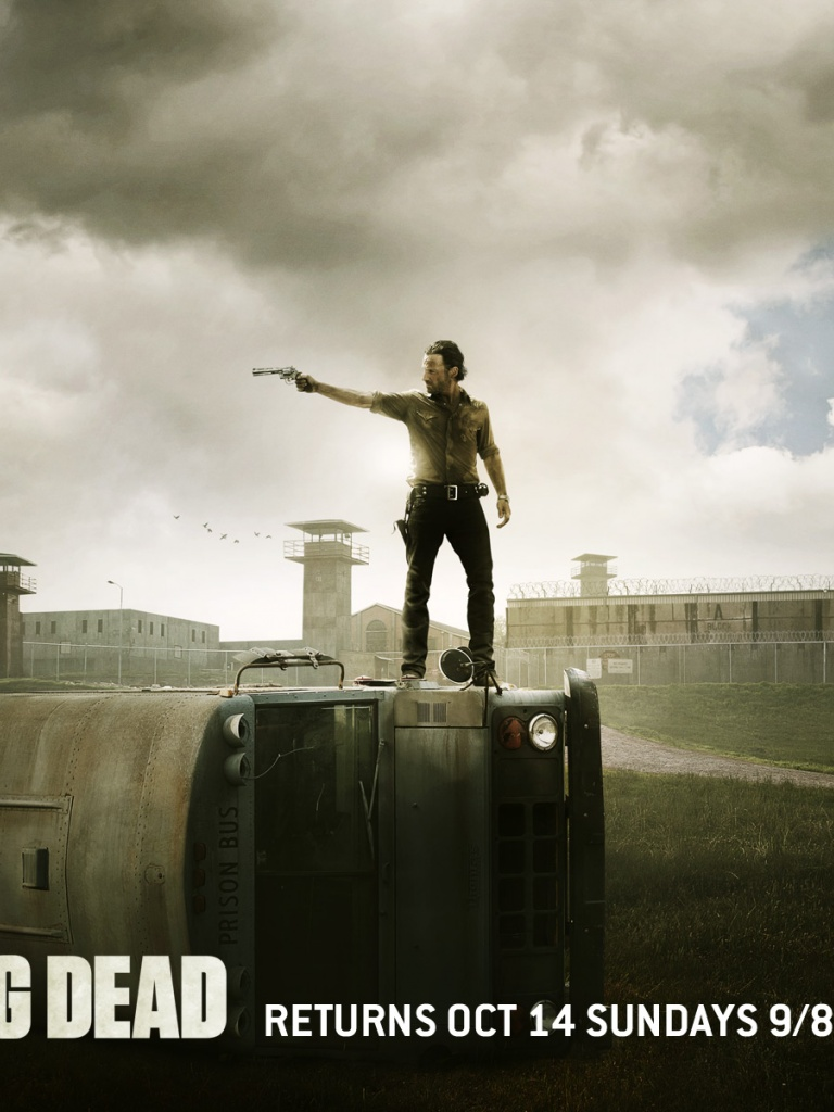 768x1024 The Walking Dead Season 2 Poster Ipad Wallpaper