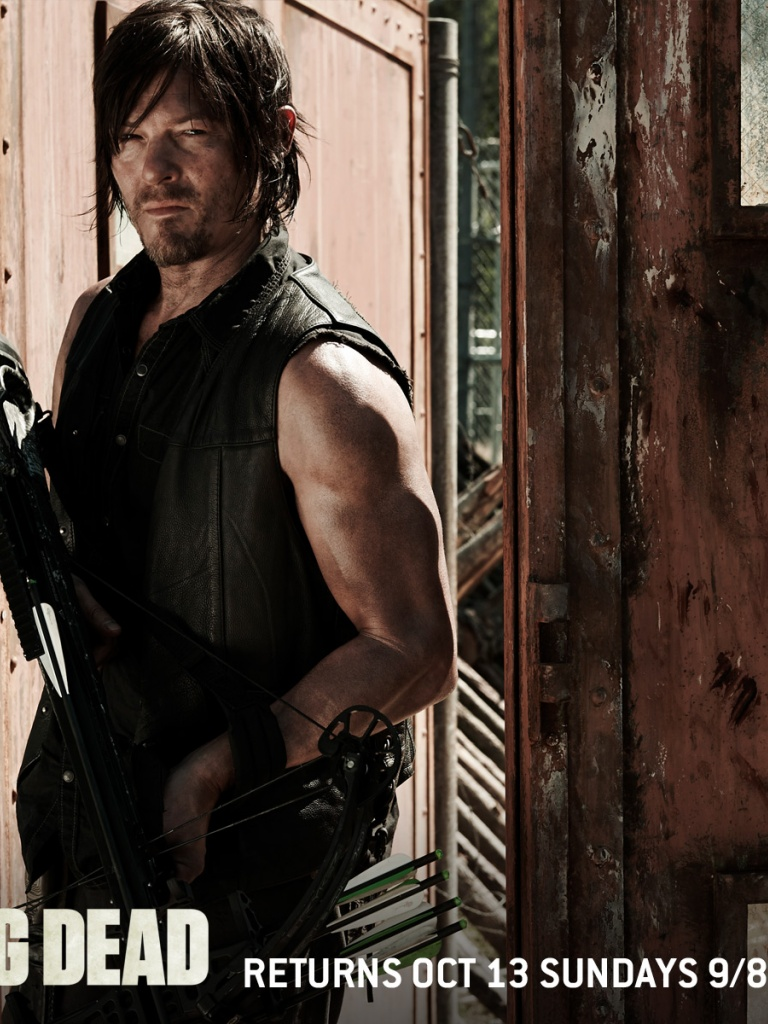 768x1024 The Walking Dead Season 4 Daryl Ipad Wallpaper