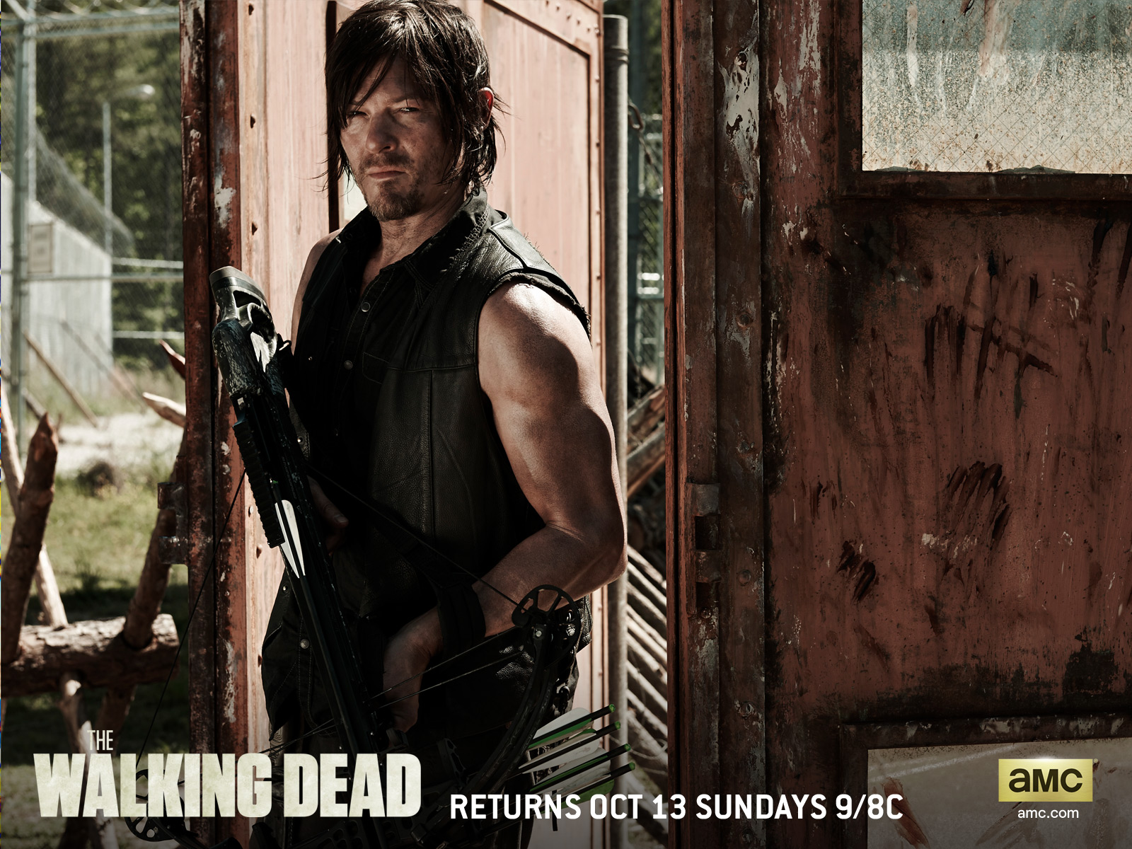 1600x1200 the walking dead season 4: daryl desktop pc and mac wallpaper
