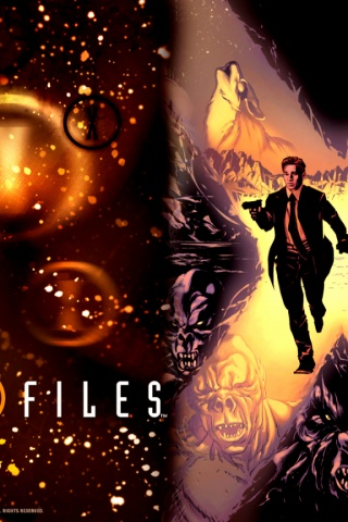 320x480 the xfiles iphone 3g wallpaper