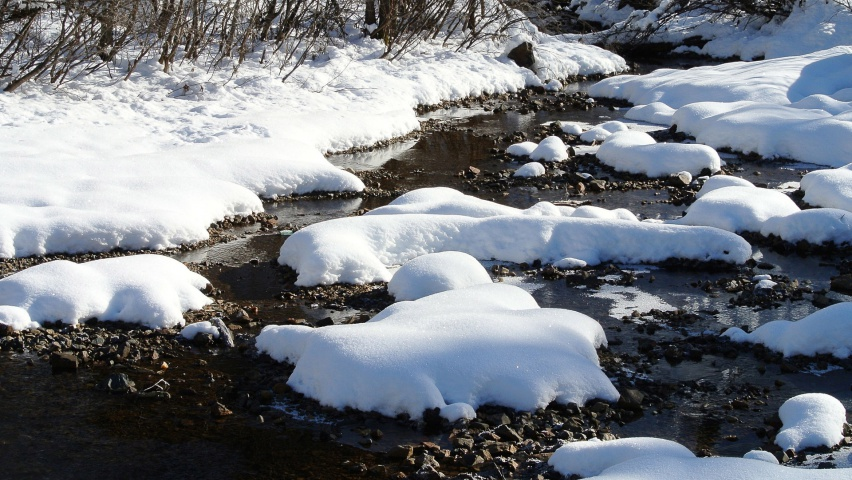 825x315 Thick Snow & Rocky River Facebook Cover Photo