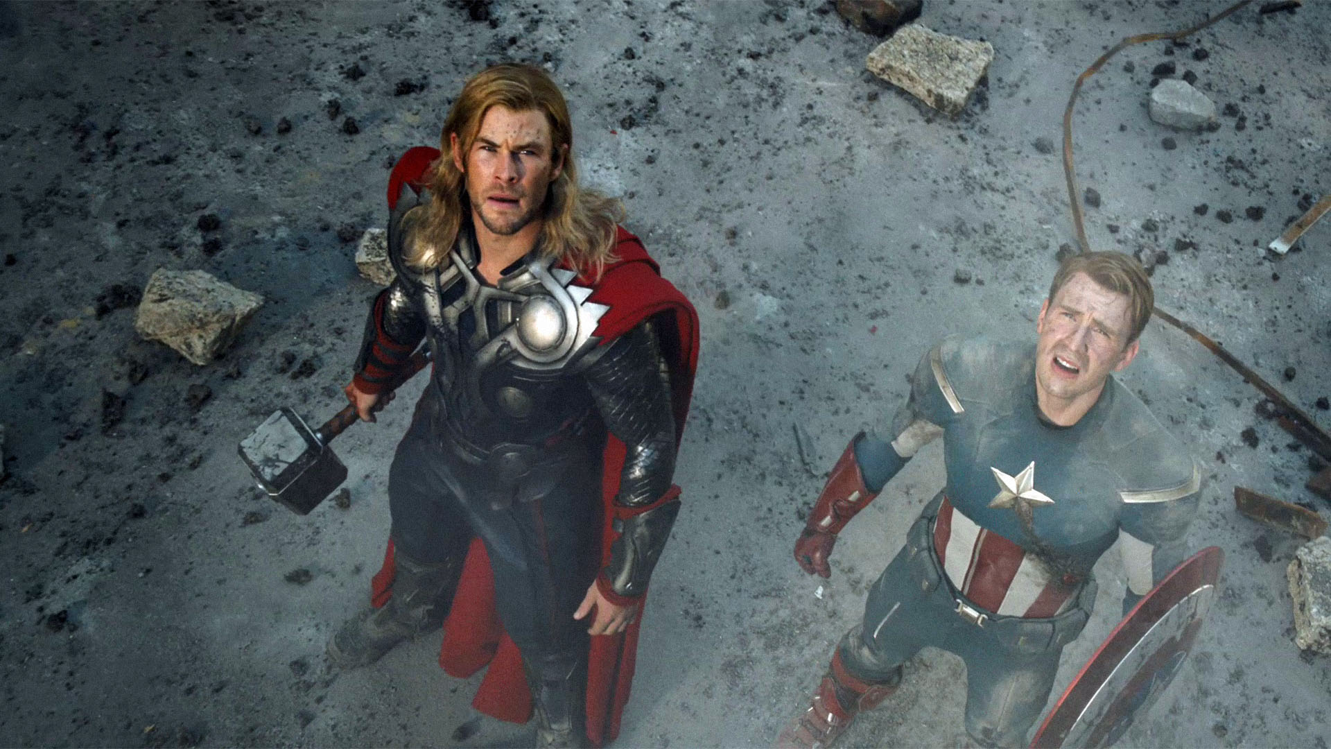 3d Thor Movie Hammer Wallpapers Hd: Thor And Captain America Wallpapers