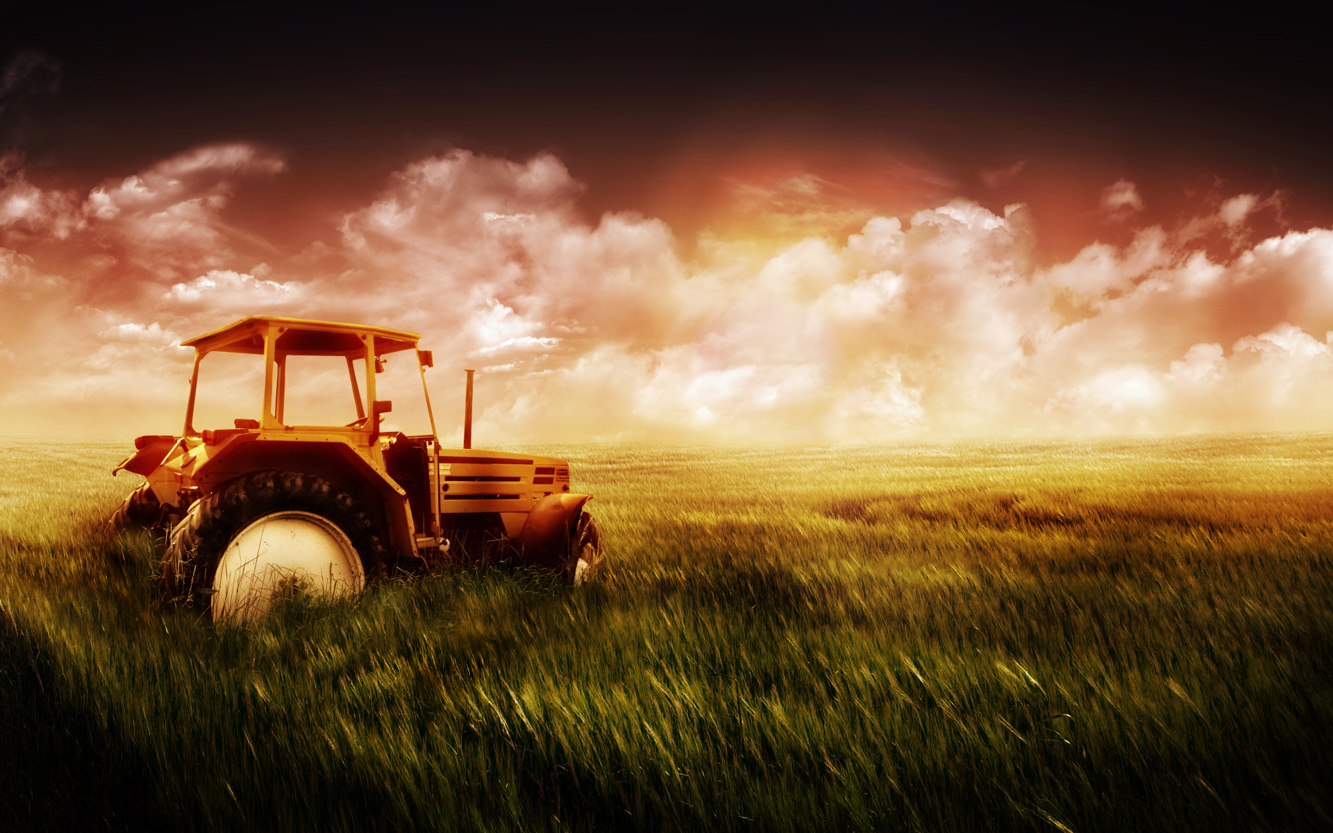 1920x1200 tractor in the field desktop pc and mac wallpaper