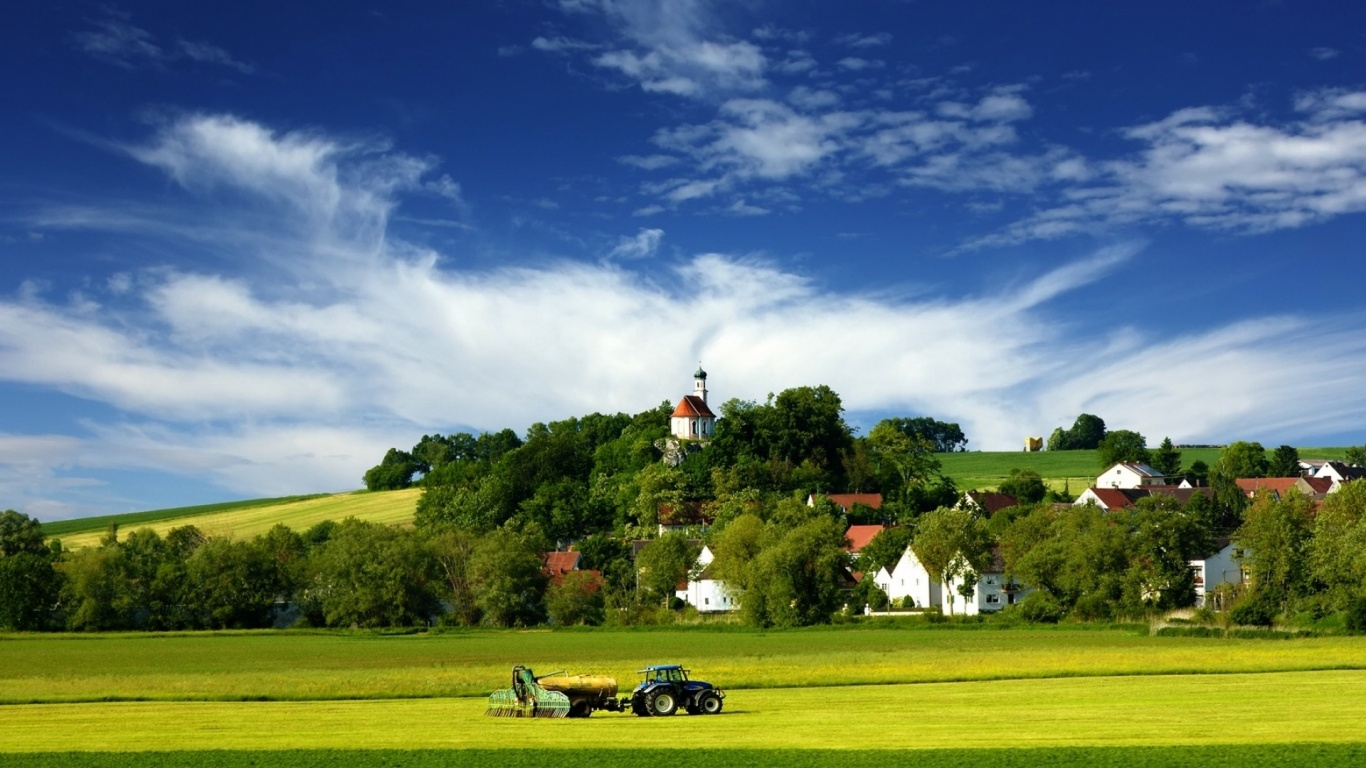 1366x768 tractor village amp country desktop pc and mac