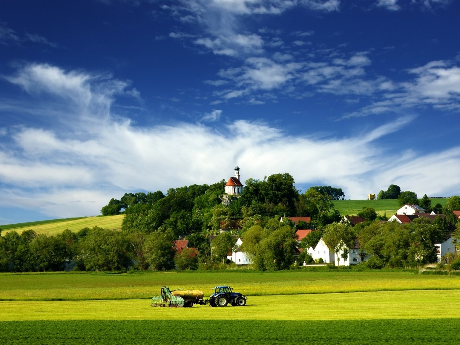 1600x1200 tractor village amp country desktop pc and mac