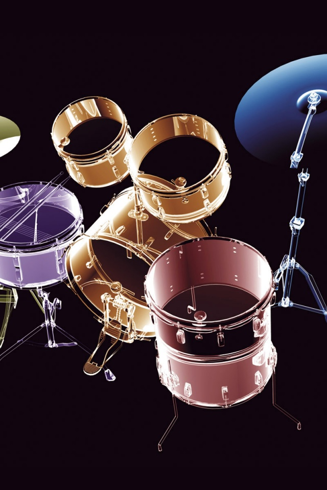 640x960 Transparent Drums Iphone 4 Wallpaper