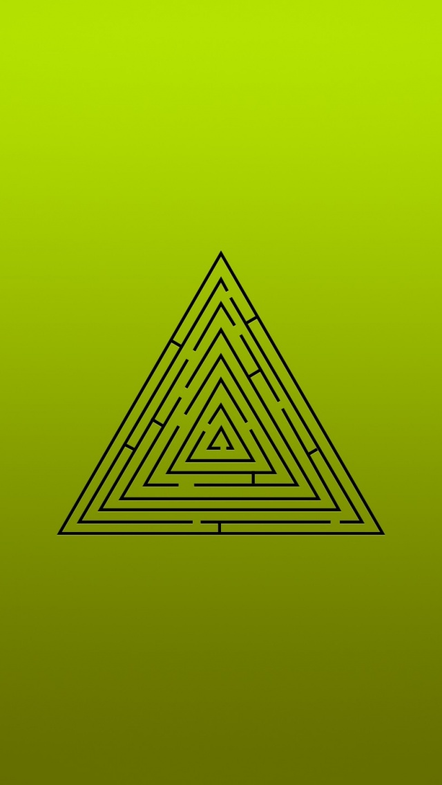 Iphone wallpapers - 640x1136 Triangle Labyrinth Iphone 5 Wallpaper