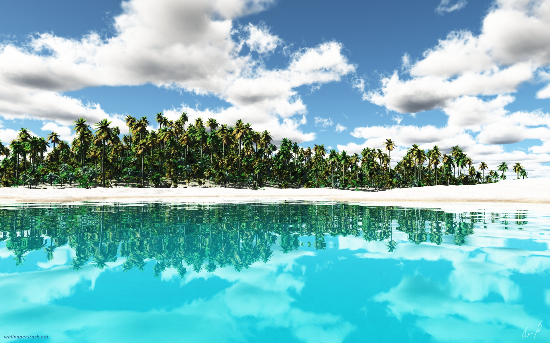 tropical island backgrounds - photo #28
