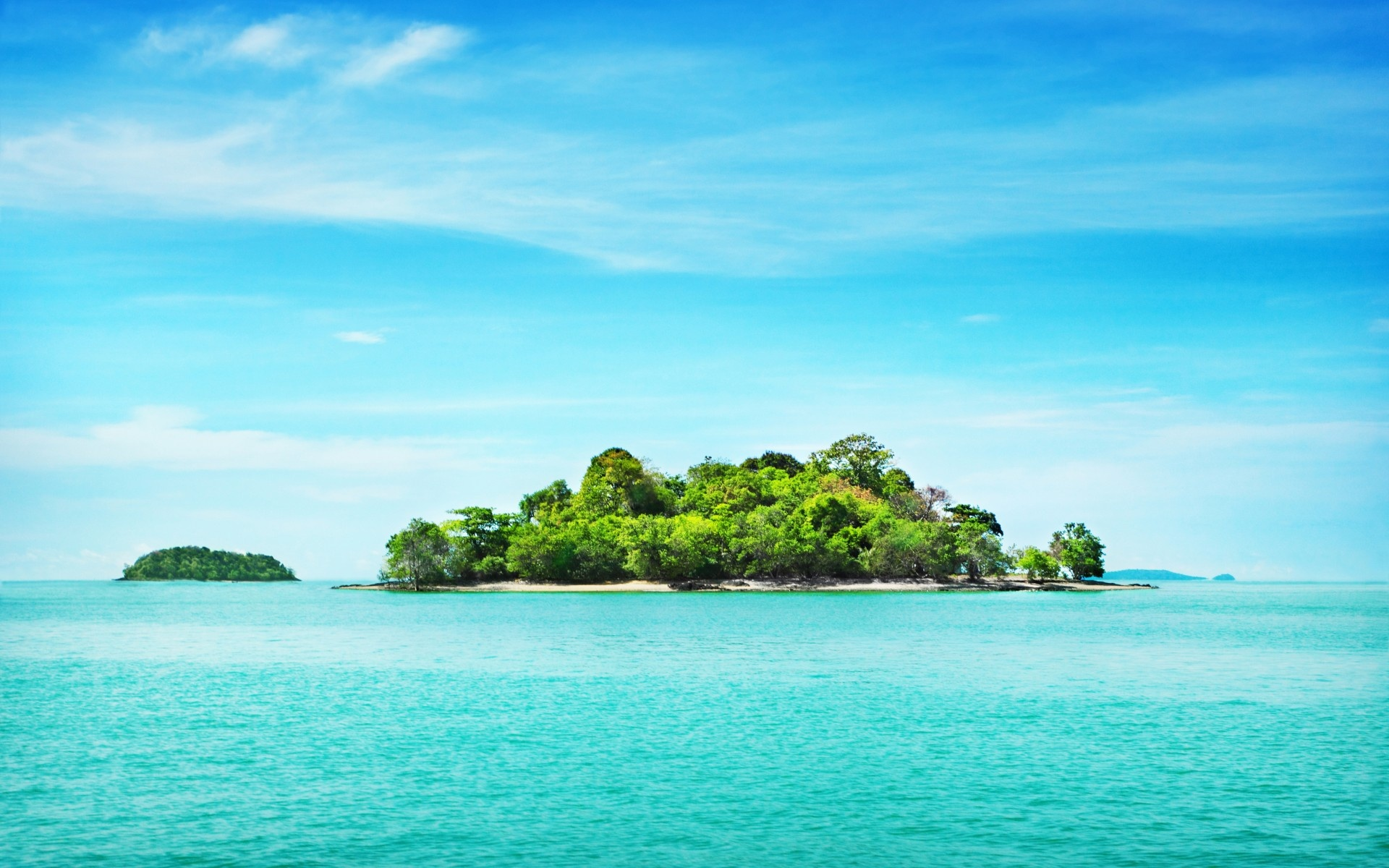 Tropical Island Beach Ambience Sound: Turquoise Ocean & Island Wallpapers