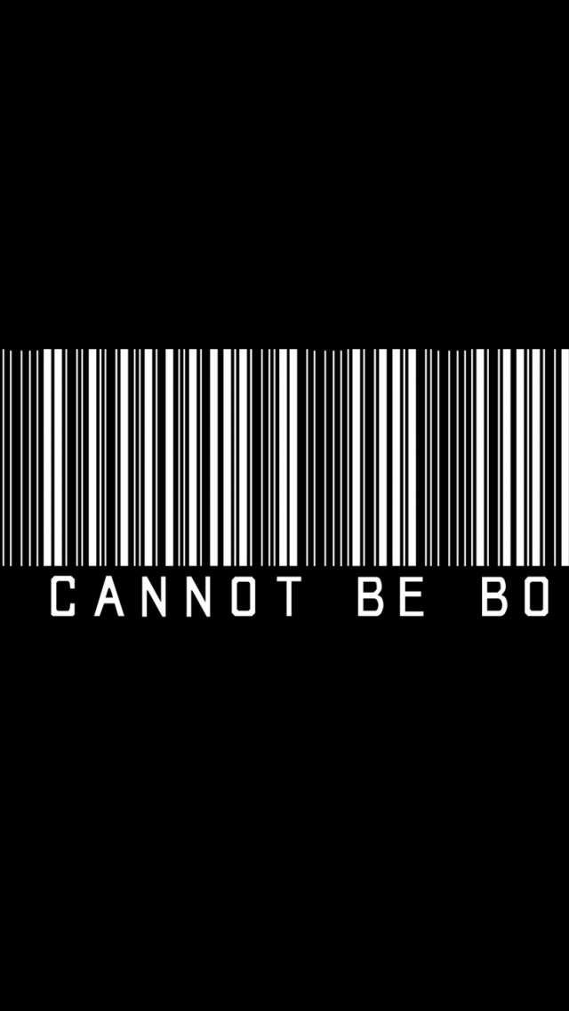 640x1136 Typography Barcode Iphone 5 Wallpaper