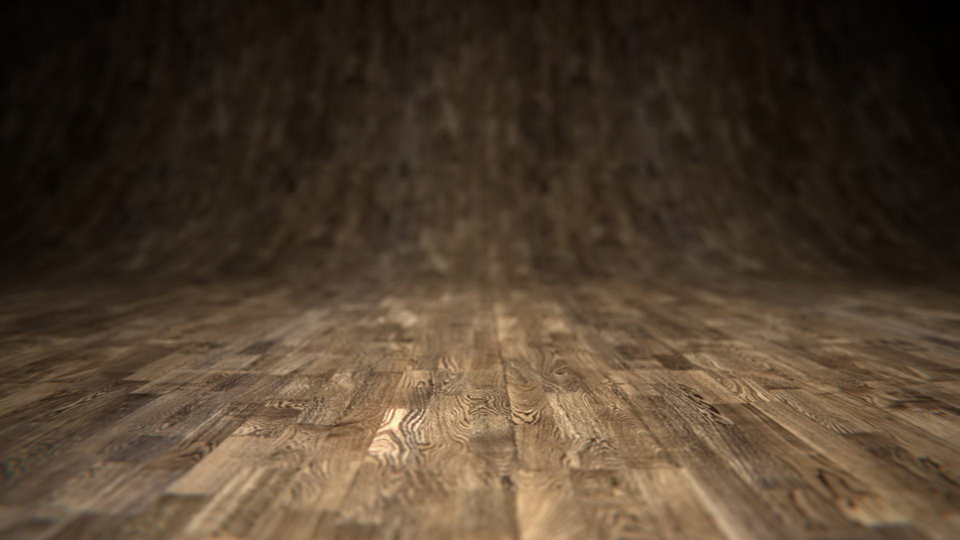 Wood Floor and Wall Background
