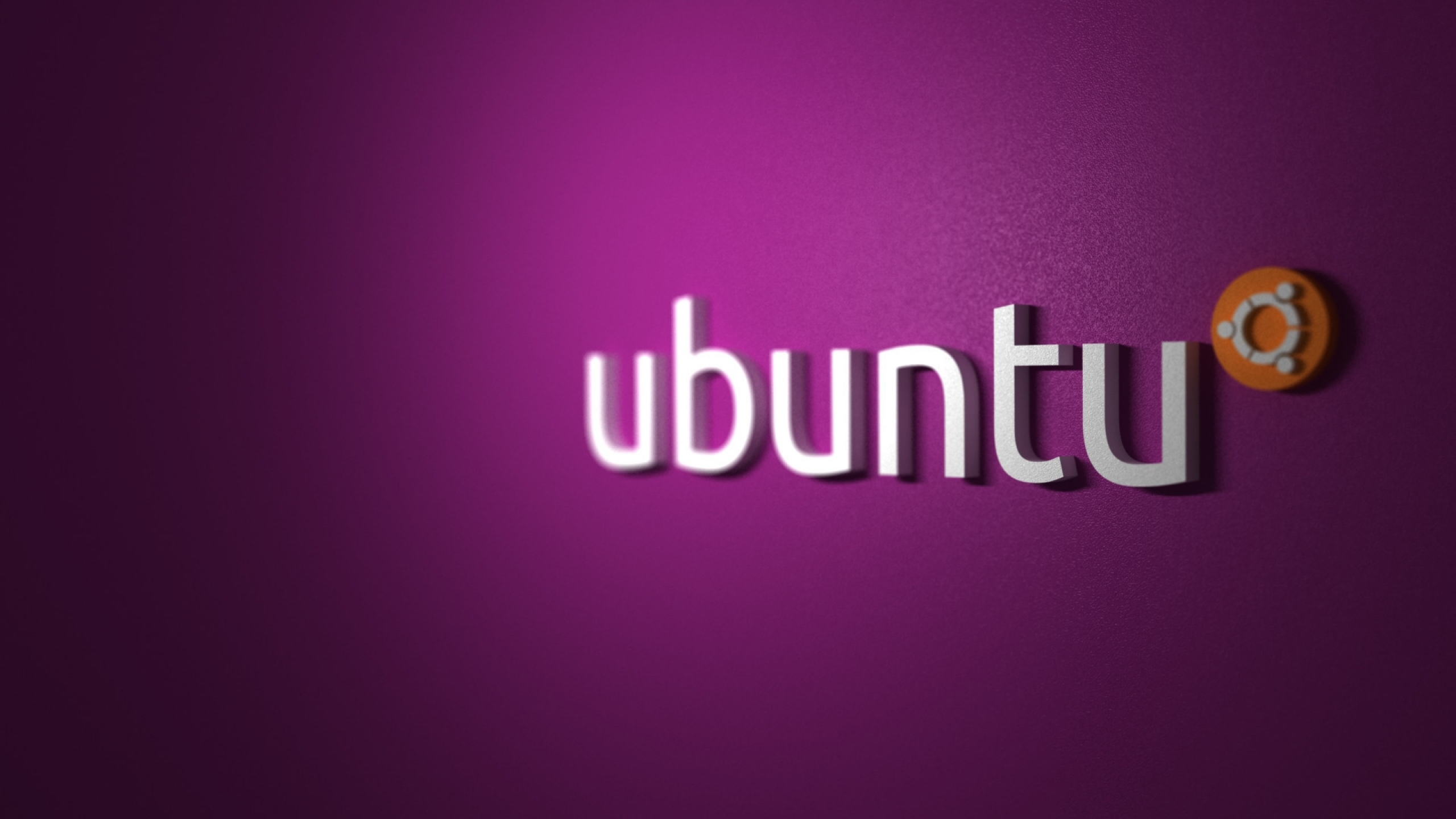 2560x1440 Ubuntu Pink Desktop Pc And Mac Wallpaper