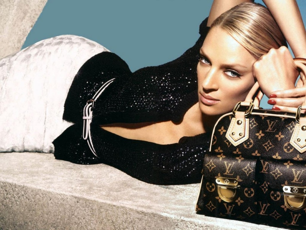 1024x768 Uma Thurman Louis Vuitton desktop PC and Mac wallpaper