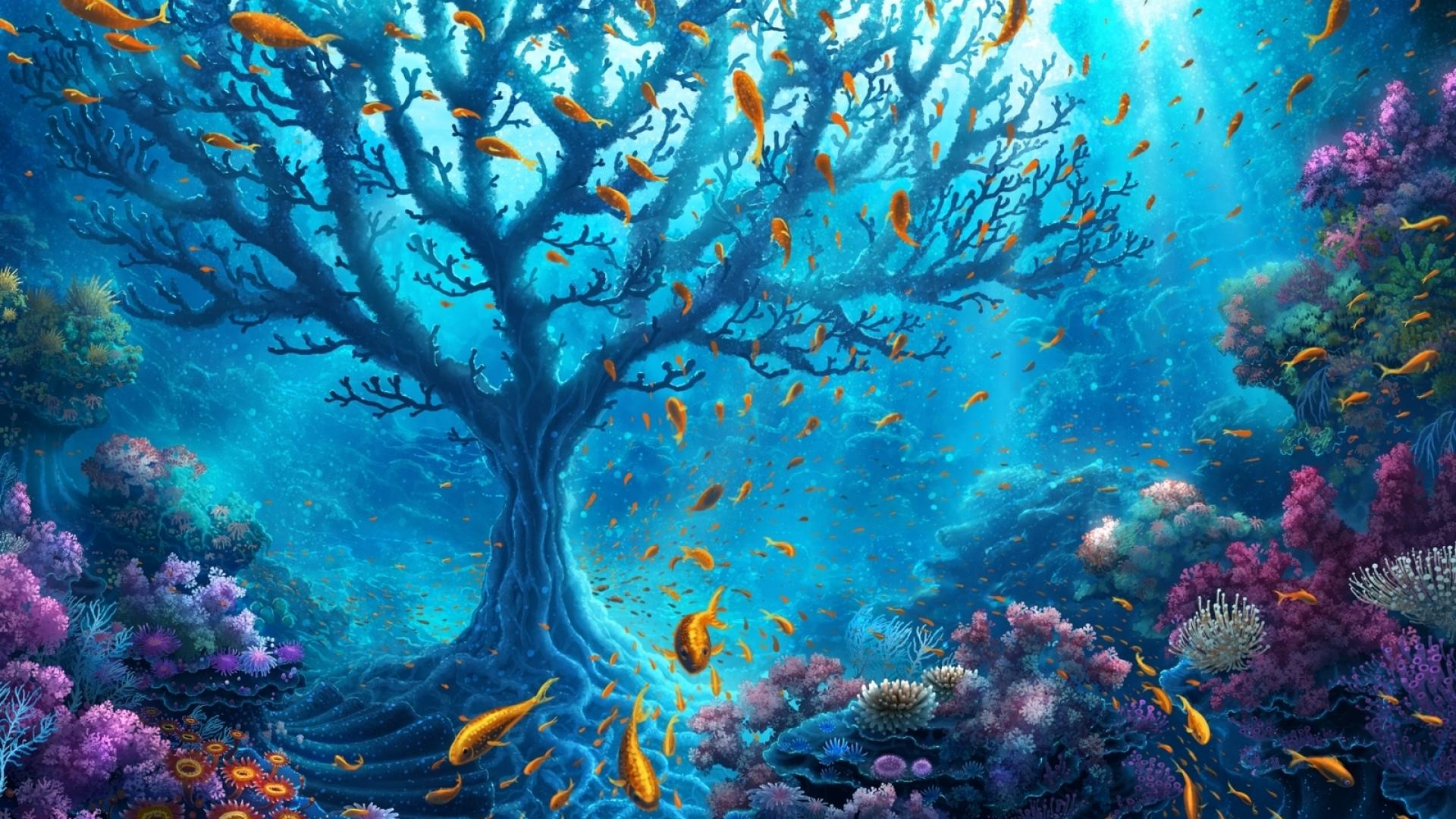 1920x1080 underwater world fantasy desktop pc and mac - Underwater desktop background ...