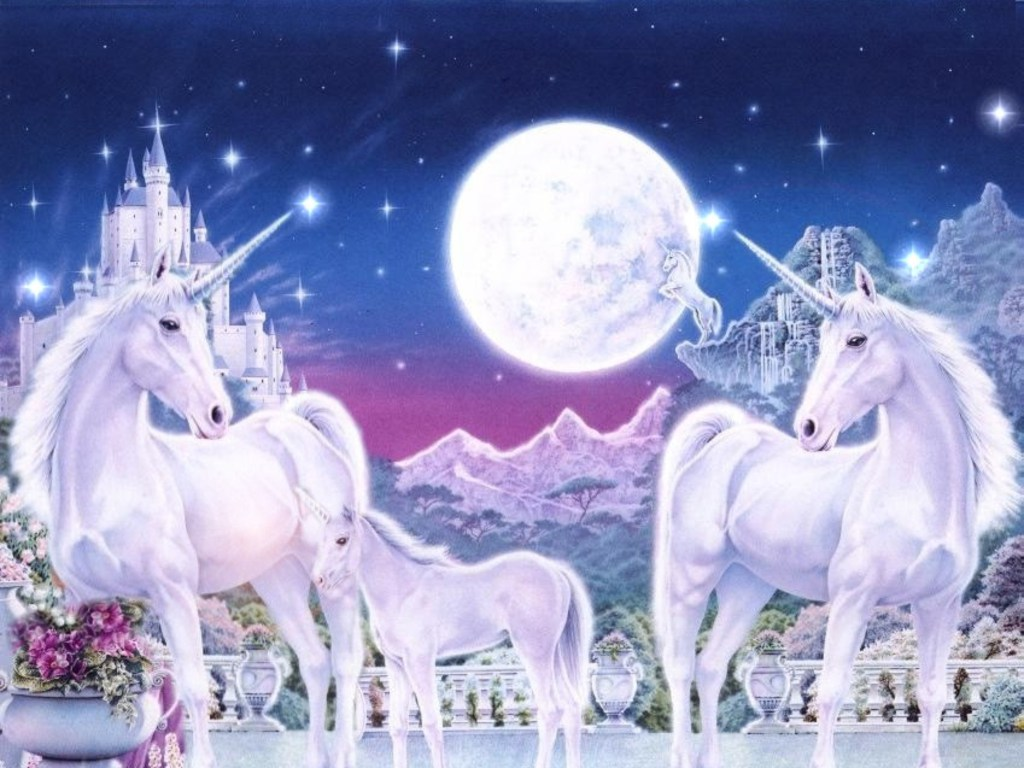 Unicorn Family Wallpapers w37510 on 3d animated objects