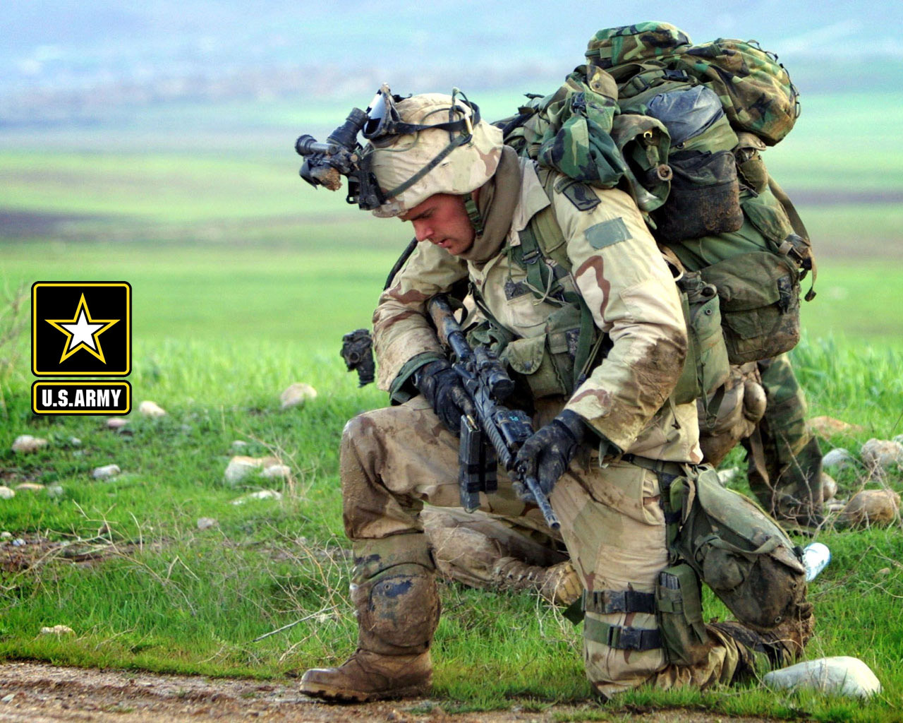 1280x1024 US Army Soldier Desktop PC And Mac Wallpaper