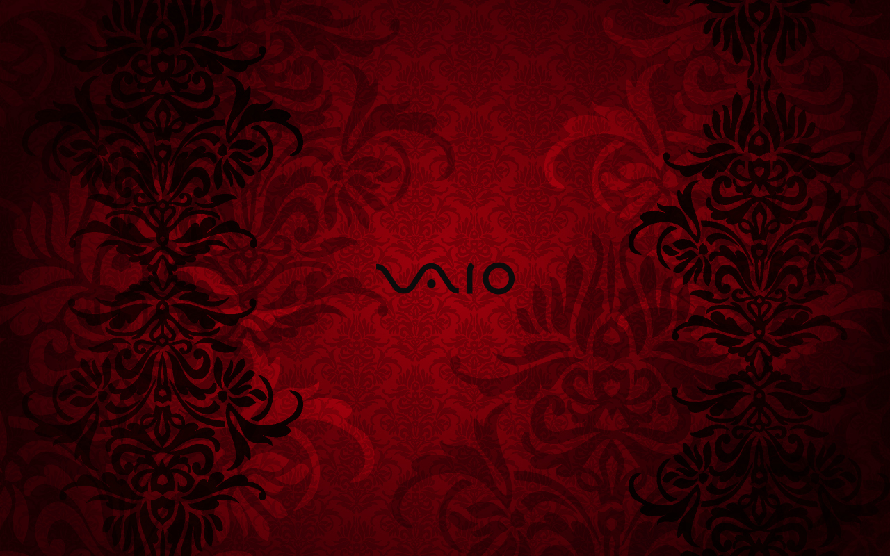 Vaio Wall Paper Black: Vaio Red Stock Photos