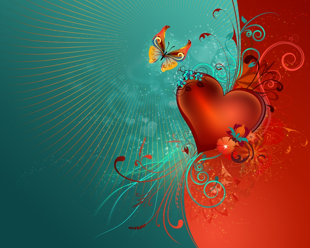 1024x768 Valentine's Heart Desktop PC And Mac Wallpaper