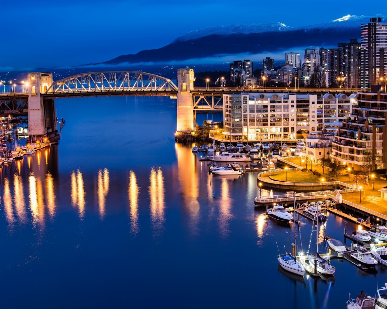 1280x1024 vancouver canada night view desktop pc and mac for Home wallpaper vancouver