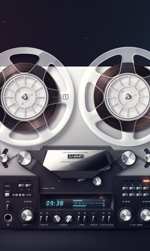 480x800 Vintage Cassette Retro Player Lumia 900 Wallpaper