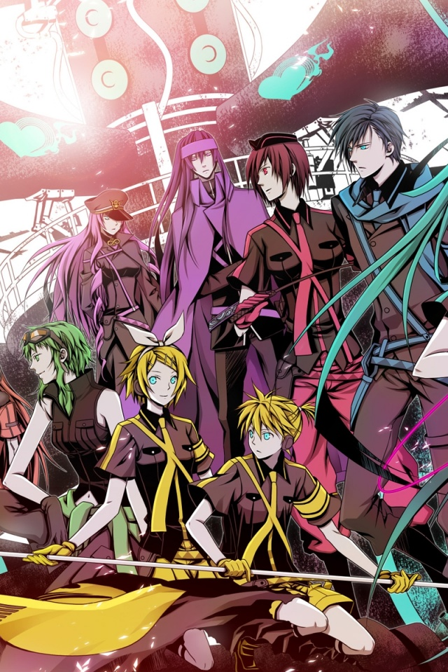 640x960 Vocaloid Characters Iphone 4 Wallpaper