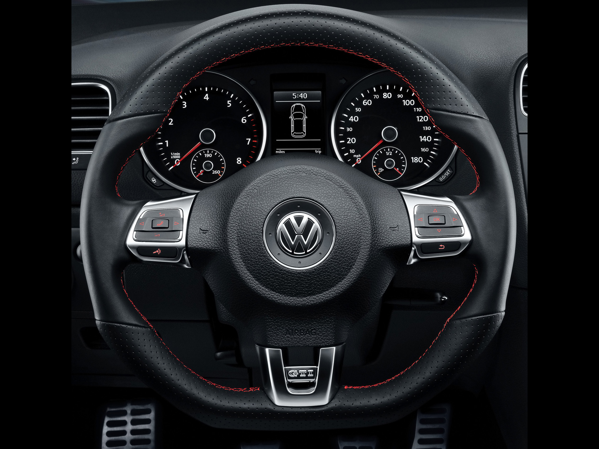 volkswagen gti lenkrad hintergrundbilder volkswagen gti. Black Bedroom Furniture Sets. Home Design Ideas