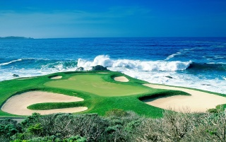 Ocean golf course wallpapers and stock photos