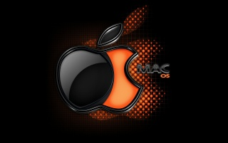 Orange Mac badge wallpapers and stock photos