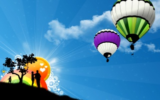 Two ballons wallpapers and stock photos