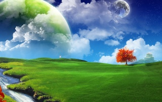 Abstract fantasy land wallpapers and stock photos