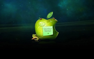 Apple logo and frog wallpapers and stock photos