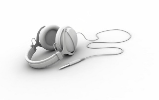 White headphones wallpapers and stock photos
