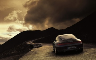 Carrera 4 on road wallpapers and stock photos