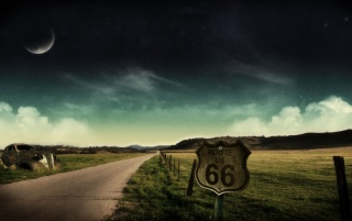 Route 66 sign wallpapers and stock photos