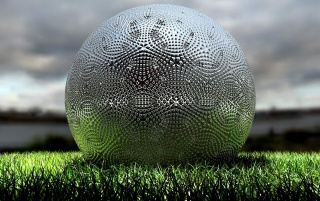 Sphere on grass wallpapers and stock photos