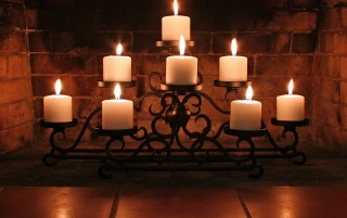 Candles and bricks wallpapers and stock photos