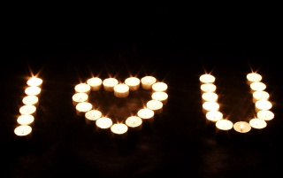 Candle love sign wallpapers and stock photos