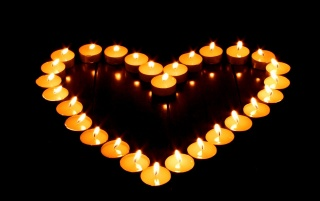 Next: Heart shaped candles