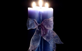 Blue candle wrapped wallpapers and stock photos